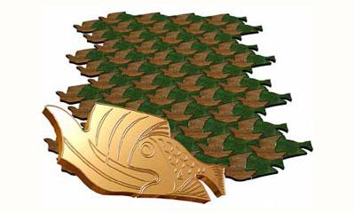 размеры: Рыбка — 32.5*13.0;           Парус — 28.0*22.0 толщина: 4.5 кол-во на 1 м2: 10 пар.… View More
