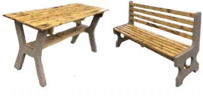 стеклопластик  2-а елемента стол  h – 80,0 лавка h — 45,0… View More