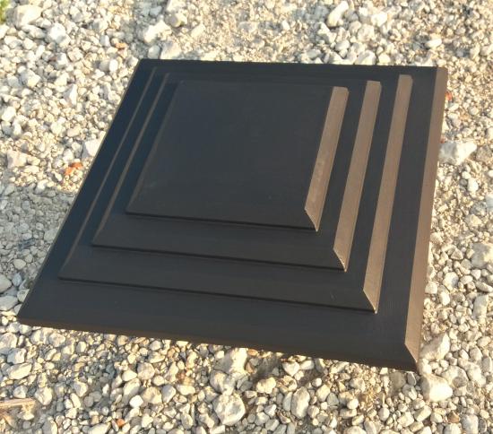 стеклопластик размеры: №1-45,0*45,0 (площатка 19,0*19,0) высота: 8,5 №2-50,0*50,0 (площатка 19,0*19,0) высота: 11,0… View More